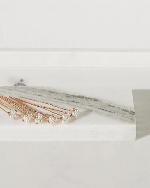 Pearl and Crystal Hair Pins