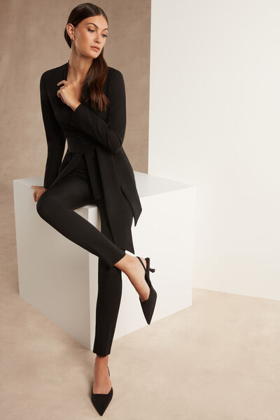 Stretch Crêpe Couture Cigarette Trousers - Party
