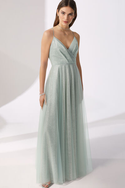 Long Sparkling Tulle Dress - Party