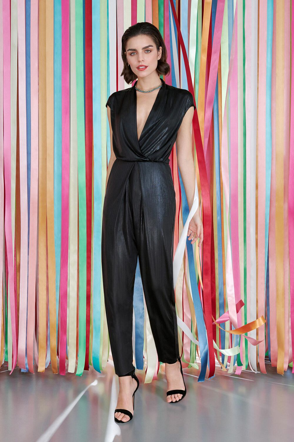 Jumpsuit in Jersey Spalmato