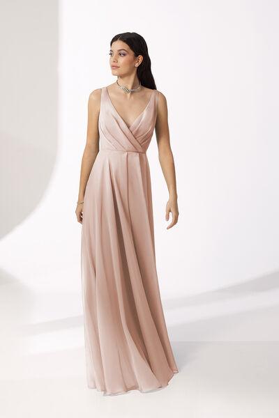 Long V-Neck Chiffon Dress