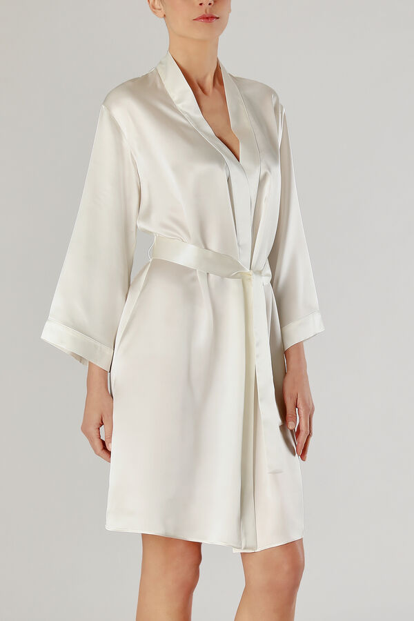 Pure Silk Dressing Gown