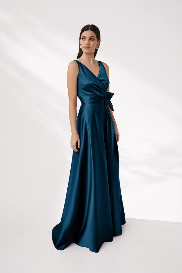 Sheath Dress in Shiny Satin