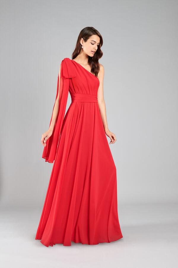 Soft Georgette Single-Shoulder Dress