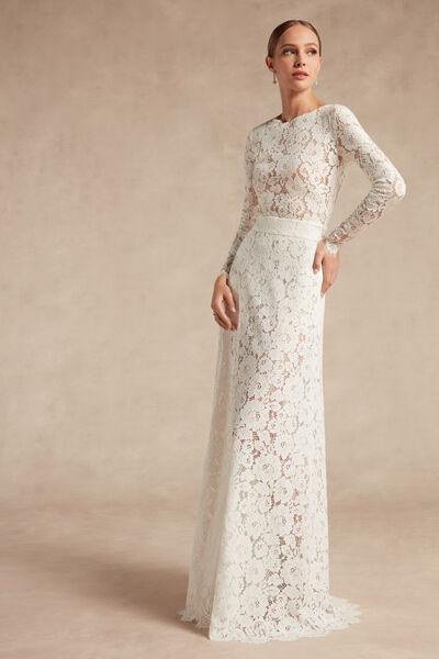 Rebrodé Lace Skirt - Bridal