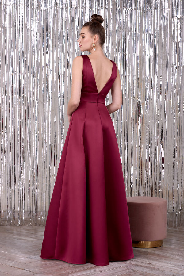 Long Satin Gown
