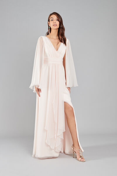 Chiffon Dress with Draping