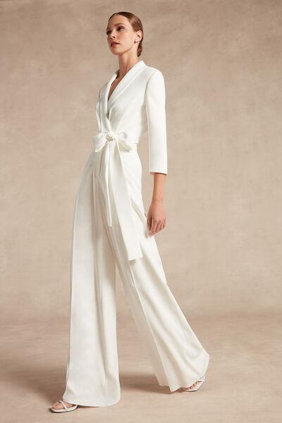 Pantalone a palazzo in crêpe couture - Bridal