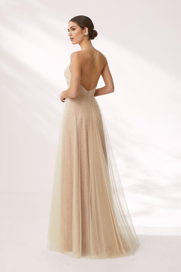 Long Sparkling Tulle Dress