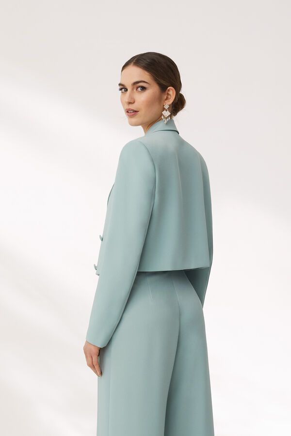 Short Double-Breasted Buttoned Jacket