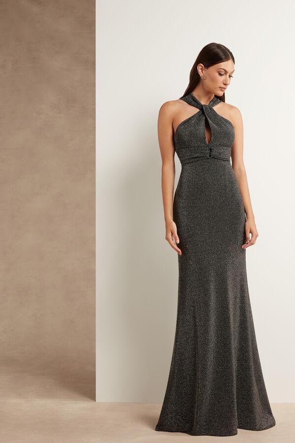 Lamé Jersey Dress