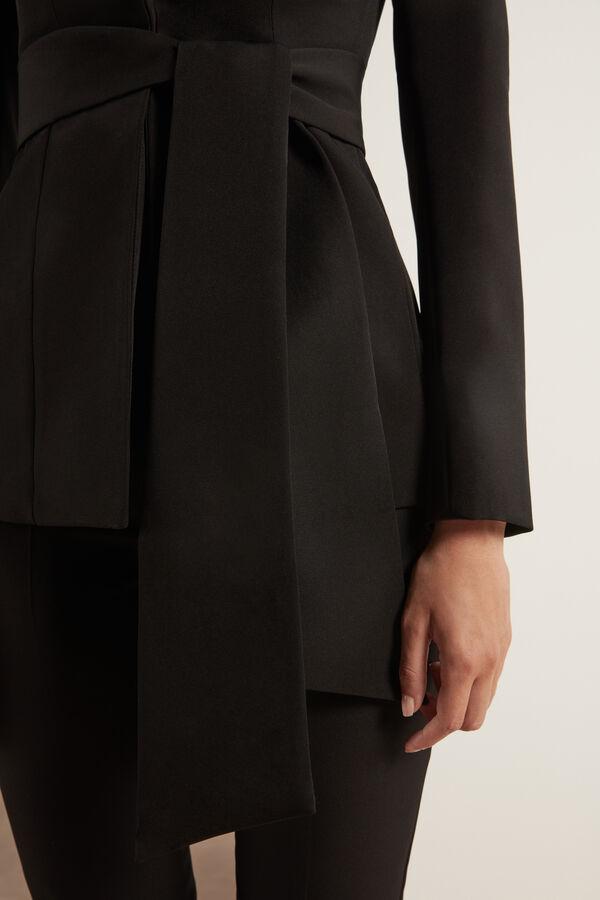 Giacca in Crêpre Couture Stretch Collo a Scialle