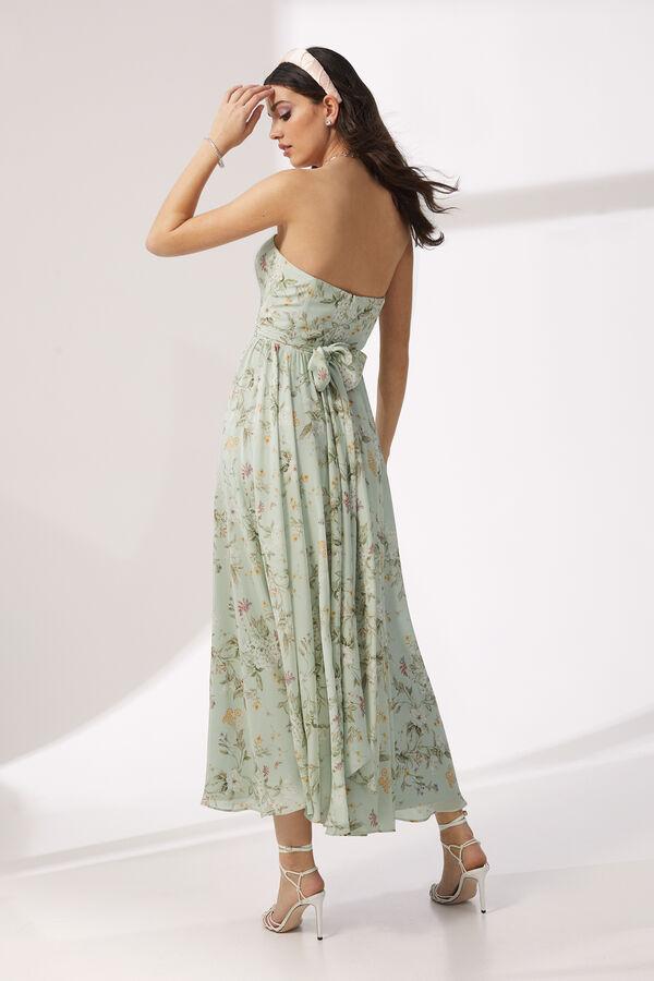 Floral Print Silk Crêpe Dress
