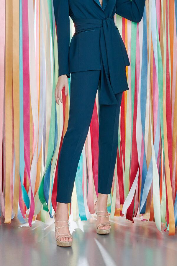 Crêpe Couture Cigarette Trousers