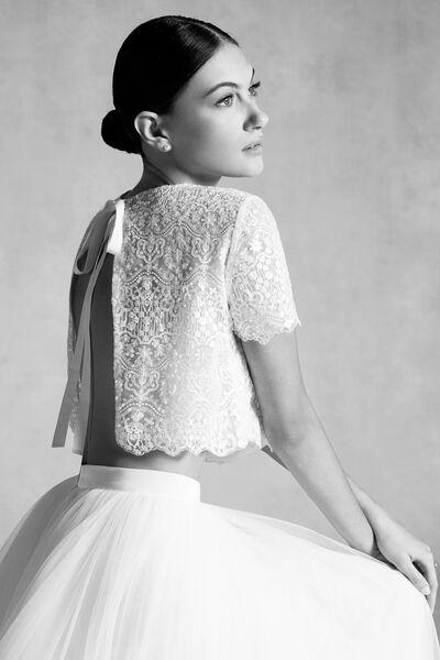 Bolerino in tulle con perline - Bridal