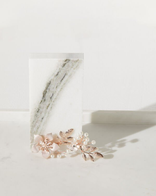 Floral and Foliage Ramage Hair Clip