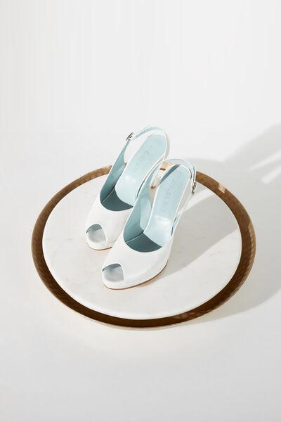 Open-Toe Slingback Court Shoes - Bridal