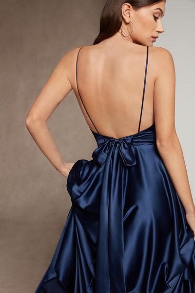 Fluid Satin Dress - Party