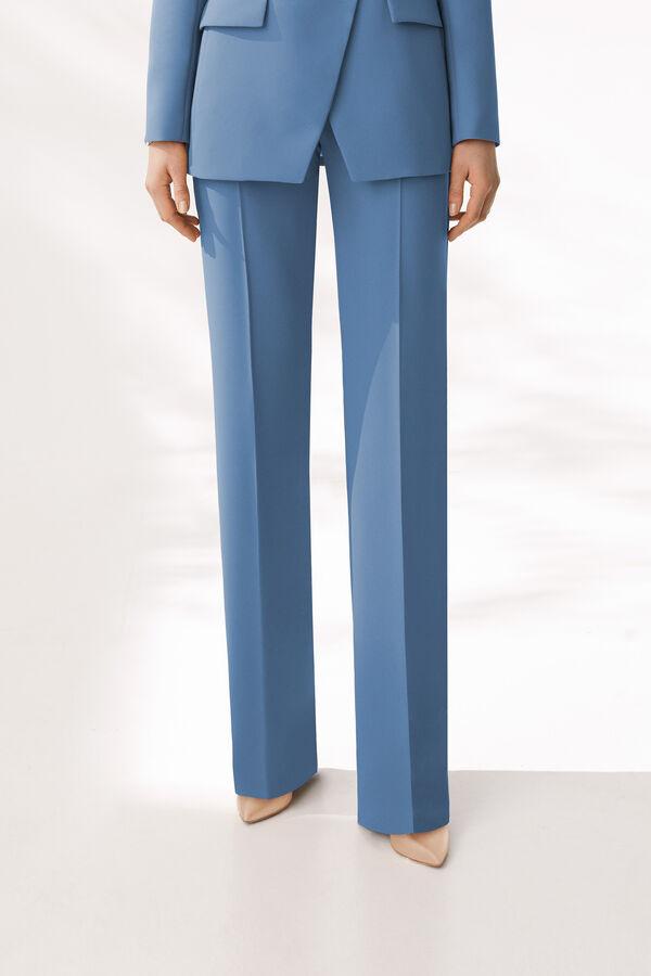 Pantalone in Crepe Enver Satin