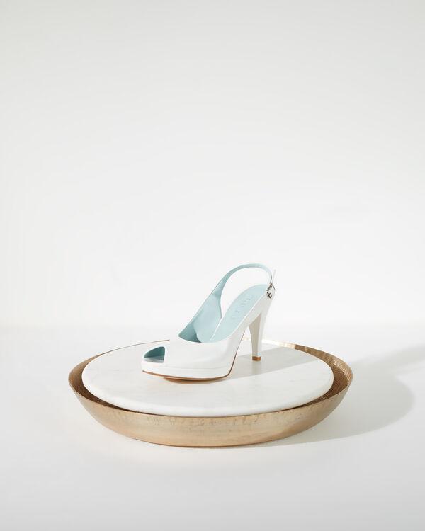 Open-Toe Slingback Court Shoes