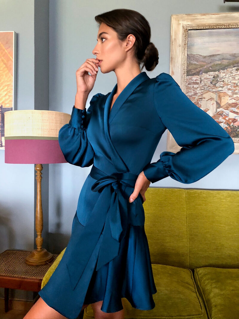 Short Moroccan Satin Dress