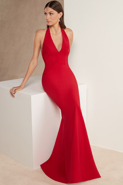 Stretch Crêpe Couture Fishtail Dress - Party