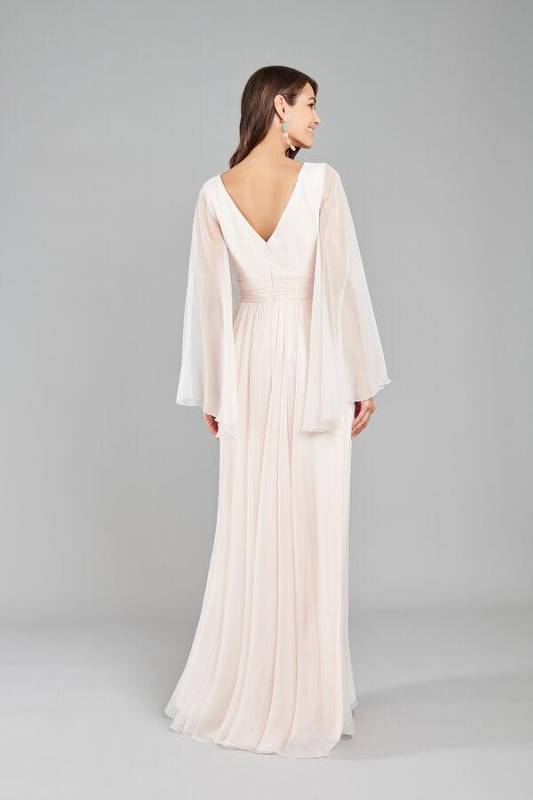 Chiffon Dress with Draping