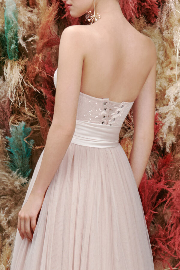 Sequin-Embroidered Corset