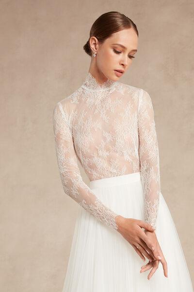 Long-Sleeved Lace Body - Bridal