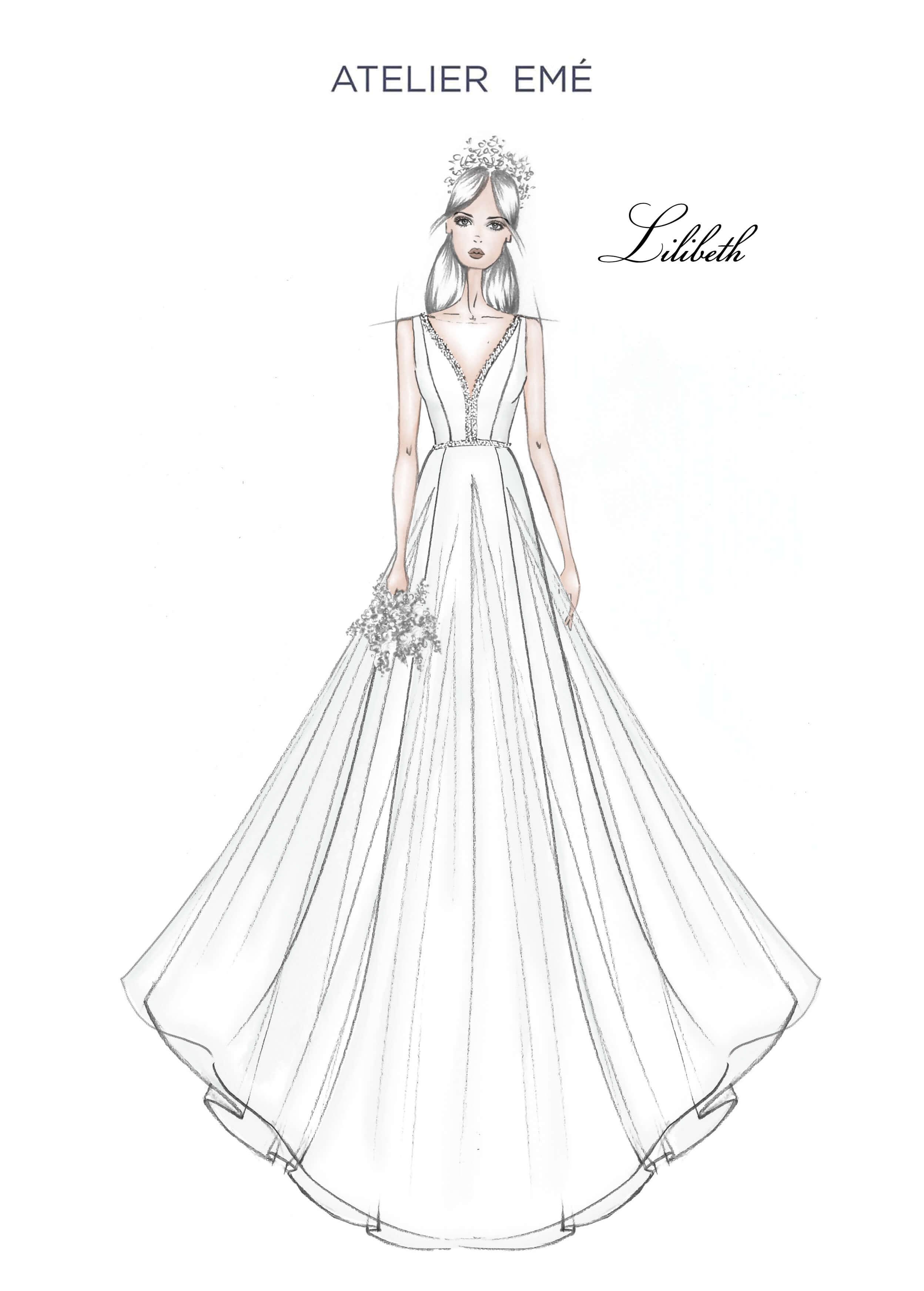 Abito da sposa Lilibeth - V Neckline - Collezione 2022