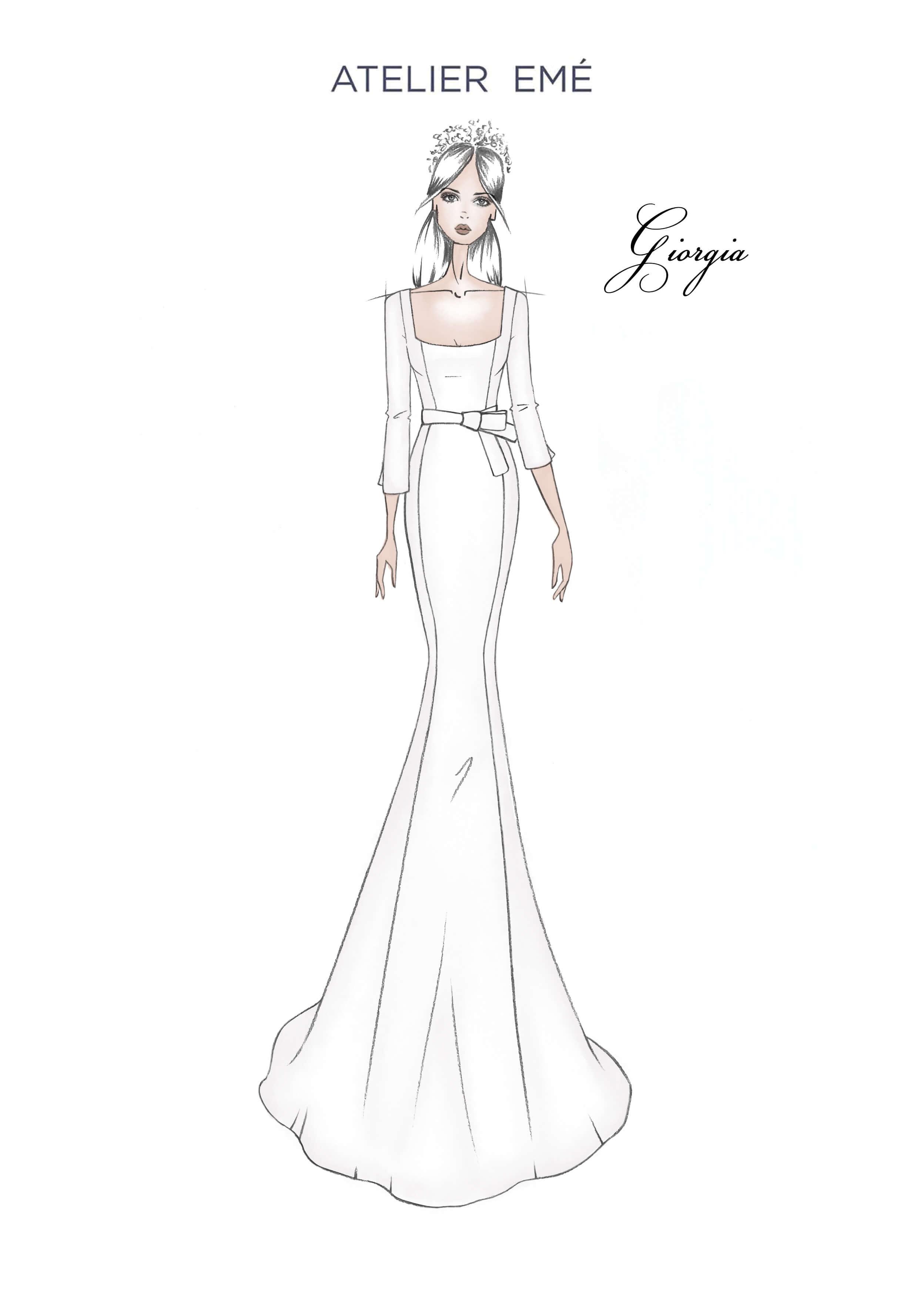 Abito da sposa Giorgia - 3/4 sleeve lenght - Collezione 2022