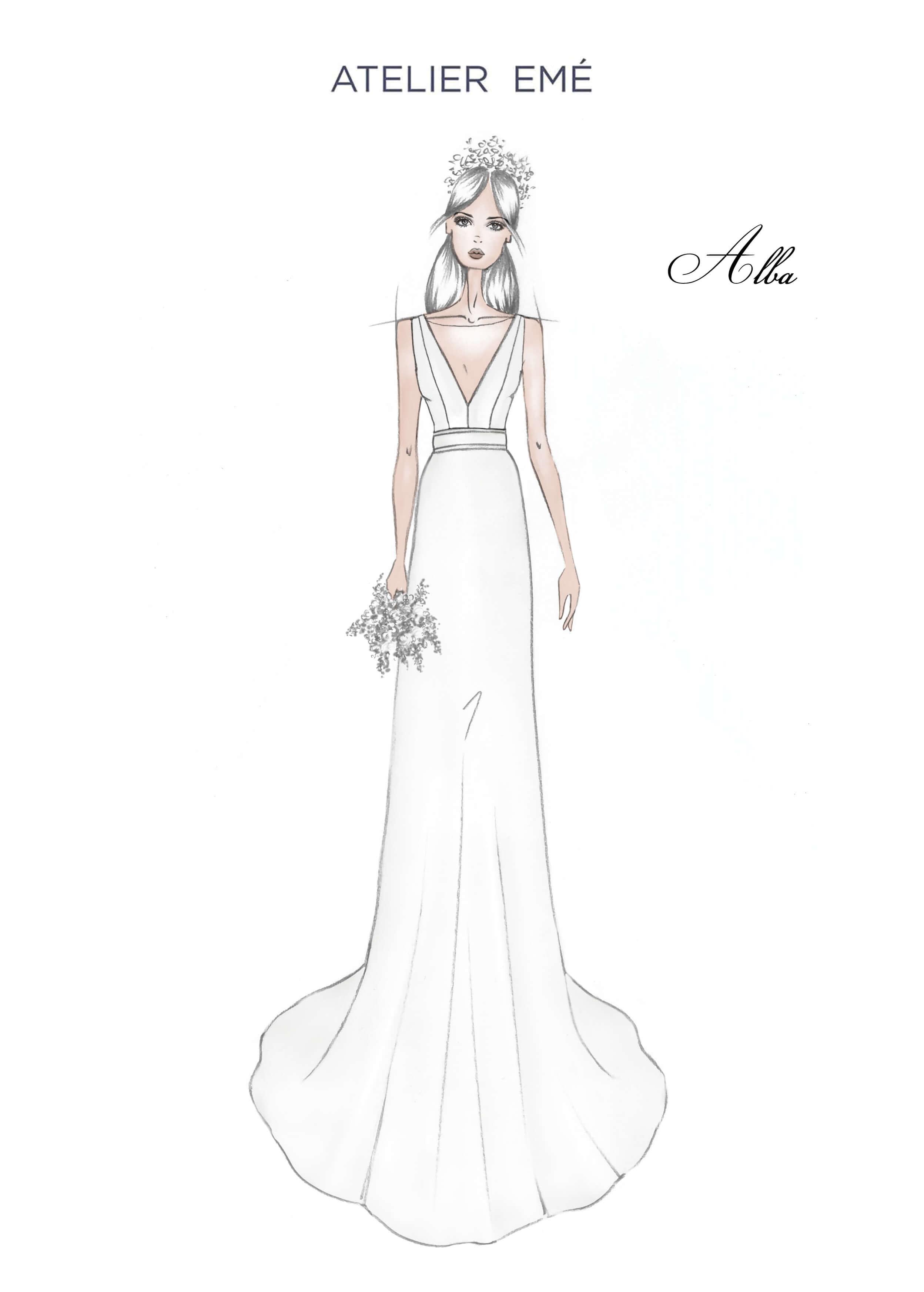Abito da sposa Alba - V neckline - 2022 Collection
