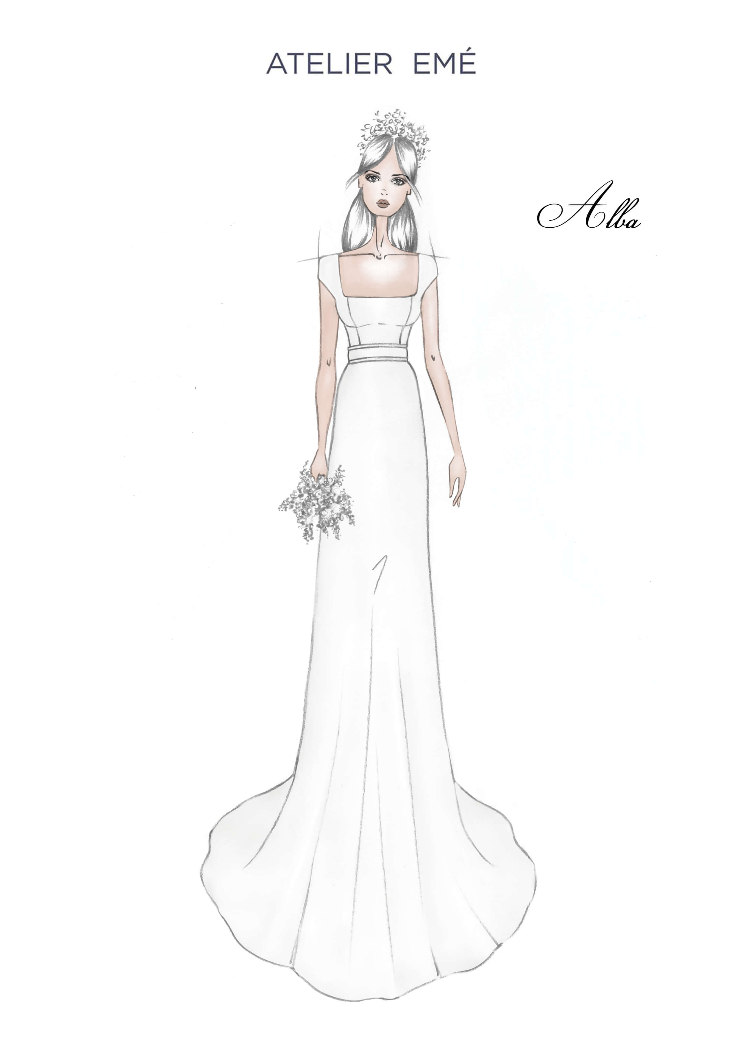 Abito da sposa Alba - Kimono short sleeves - 2022 Collection