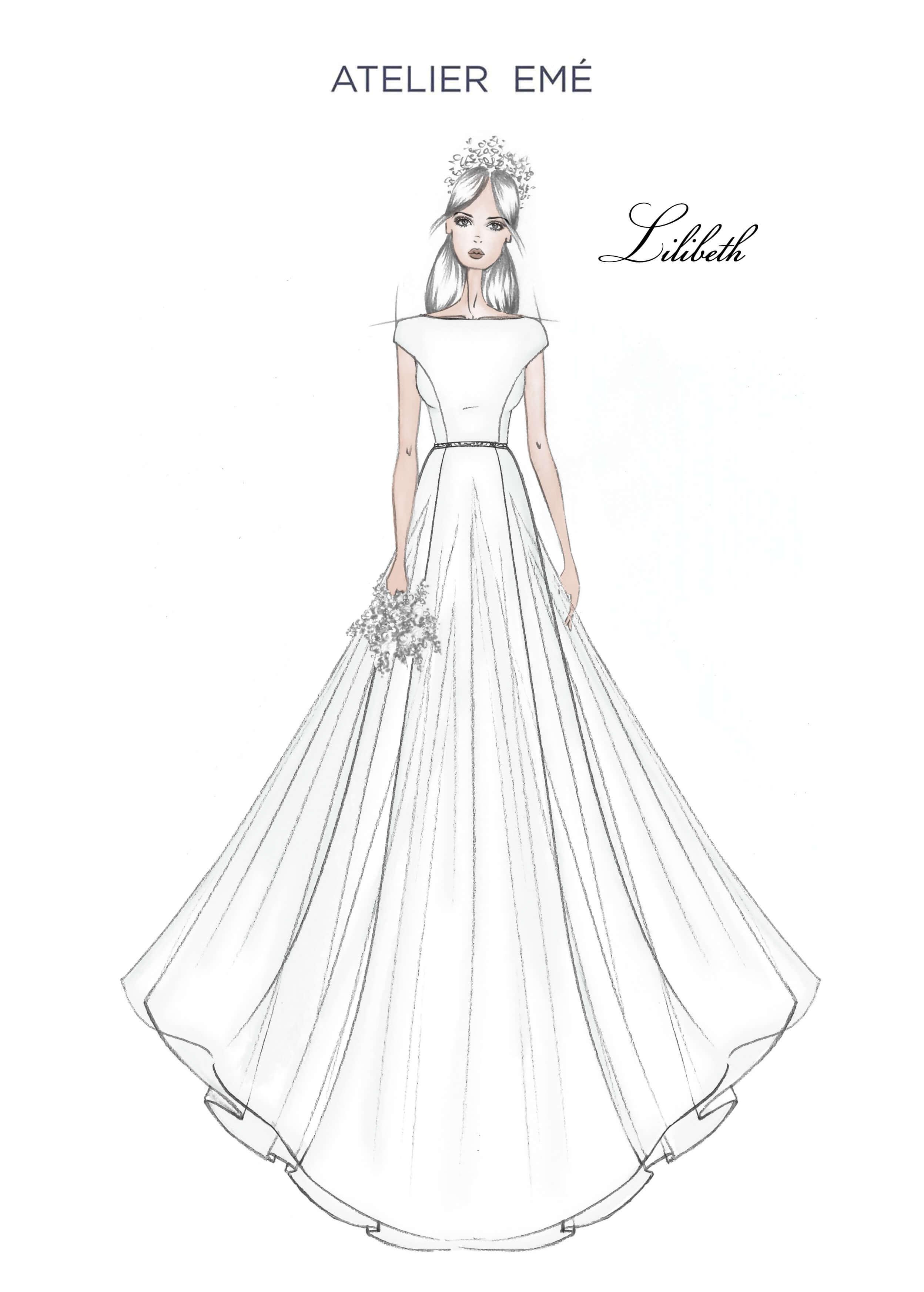 Abito da sposa Lilibeth - Short sleeves a kimono- Collezione 2022