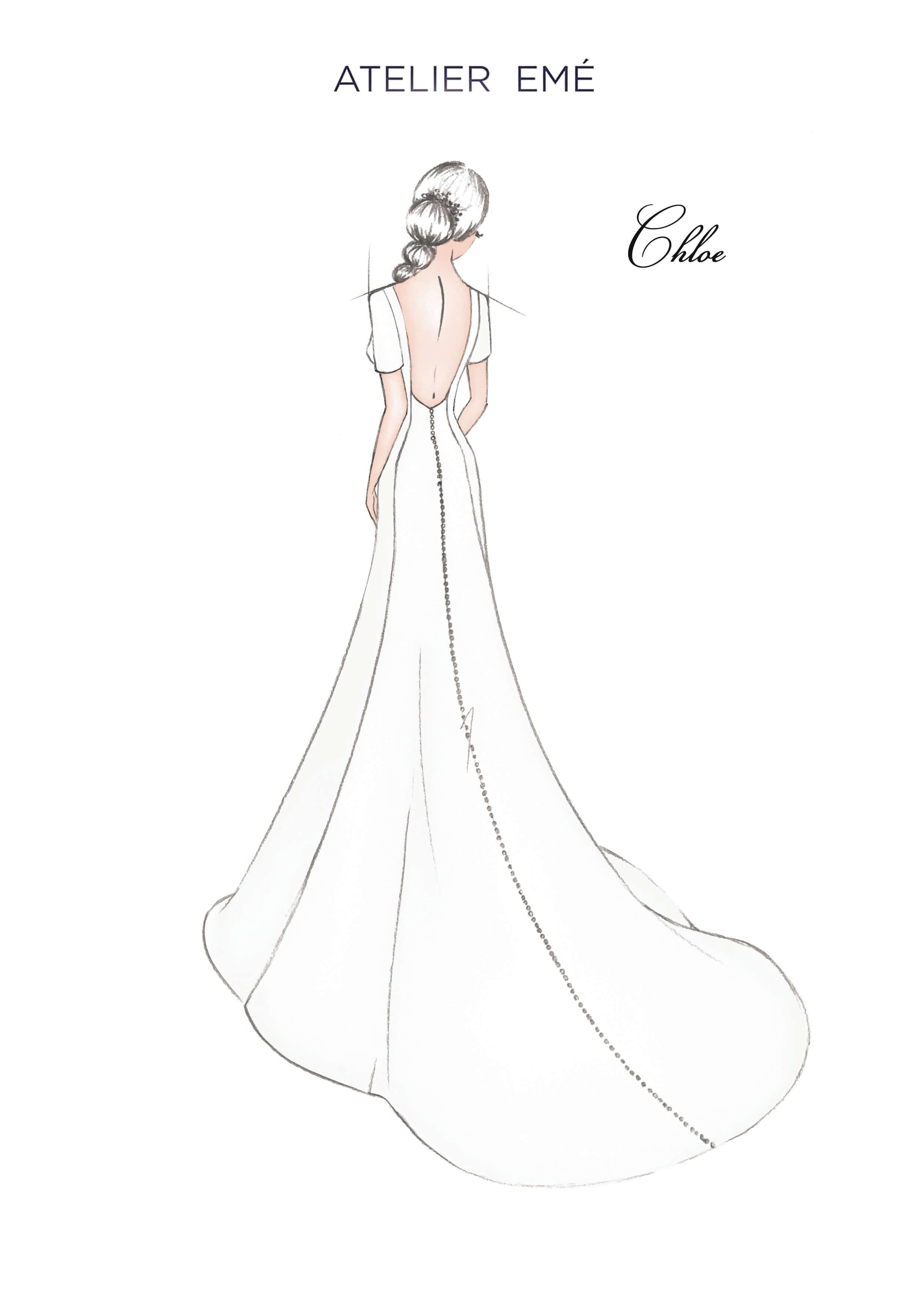 Abito da sposa Chloe - Short Sleeves - Collezione 2022