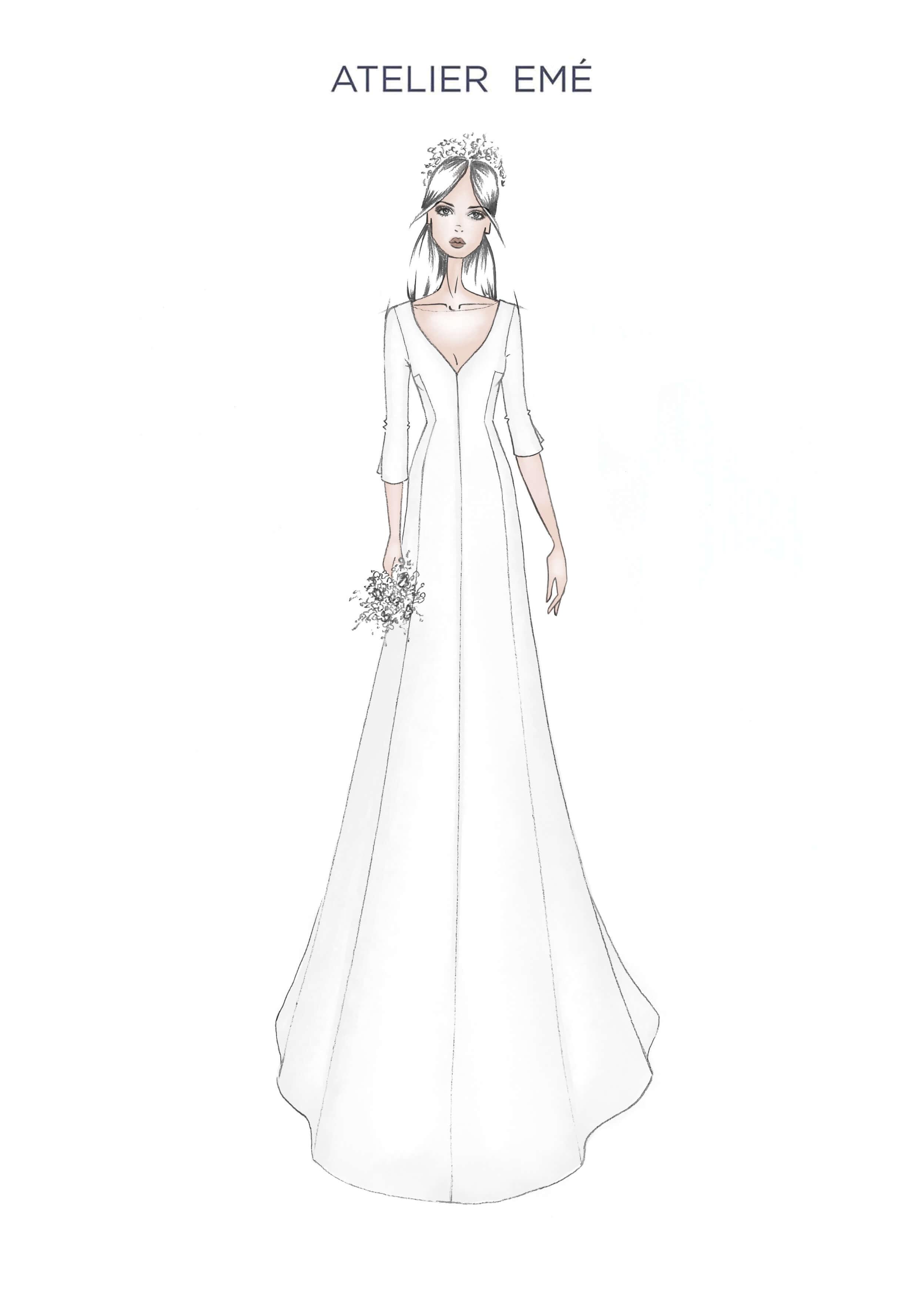 Abito da sposa Chloe - V Neckline - Collezione 2022