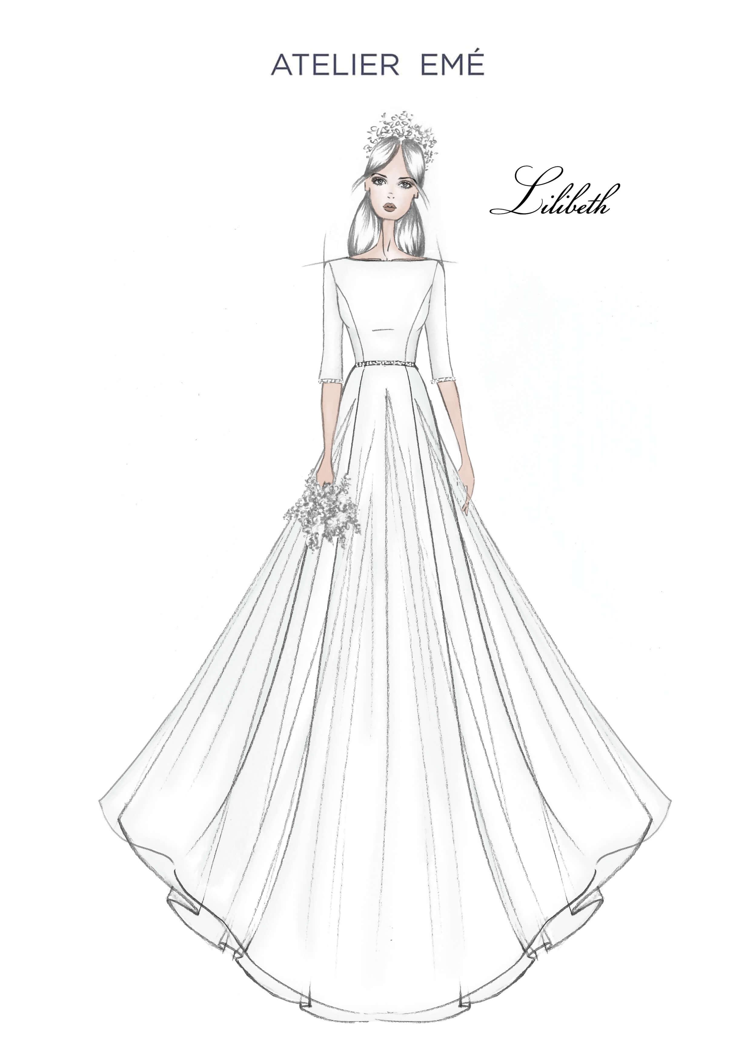 Abito da sposa Lilibeth - 3-4 Sleeves - Collezione 2022