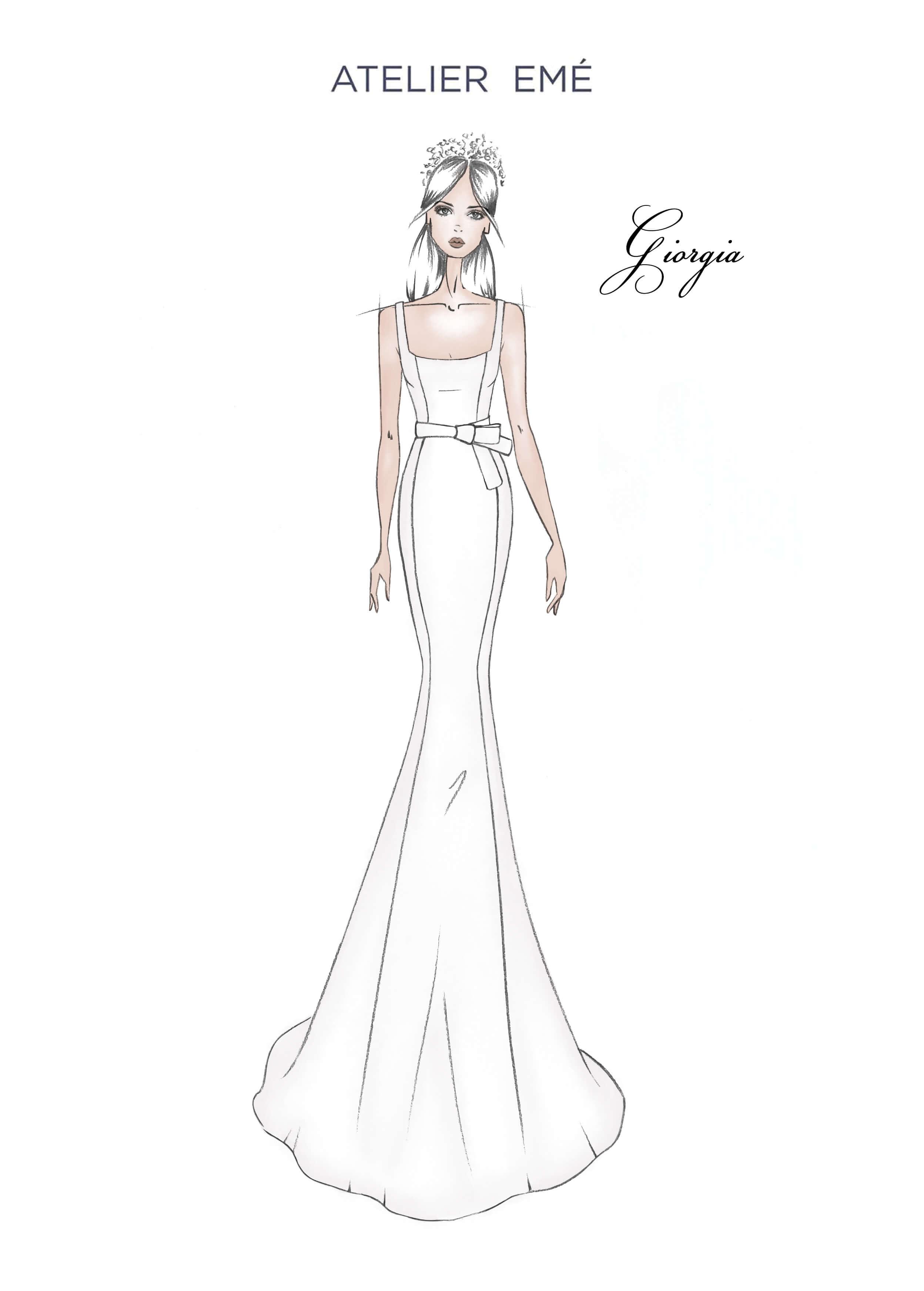 Abito da sposa Giorgia - Squared neckline and straps - Collezione 2022