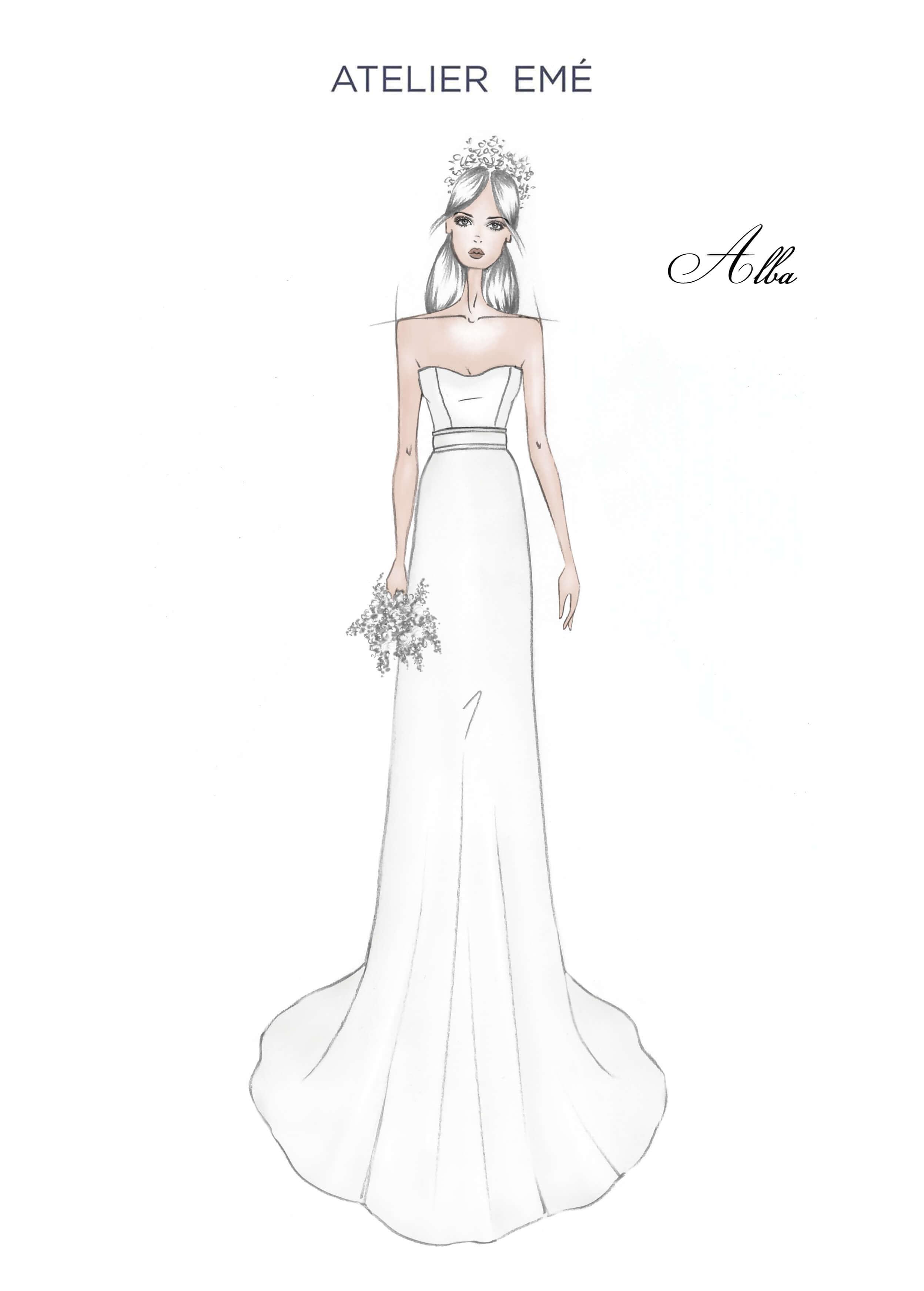 Abito da sposa Alba - Smile neckline - 2022 Collection