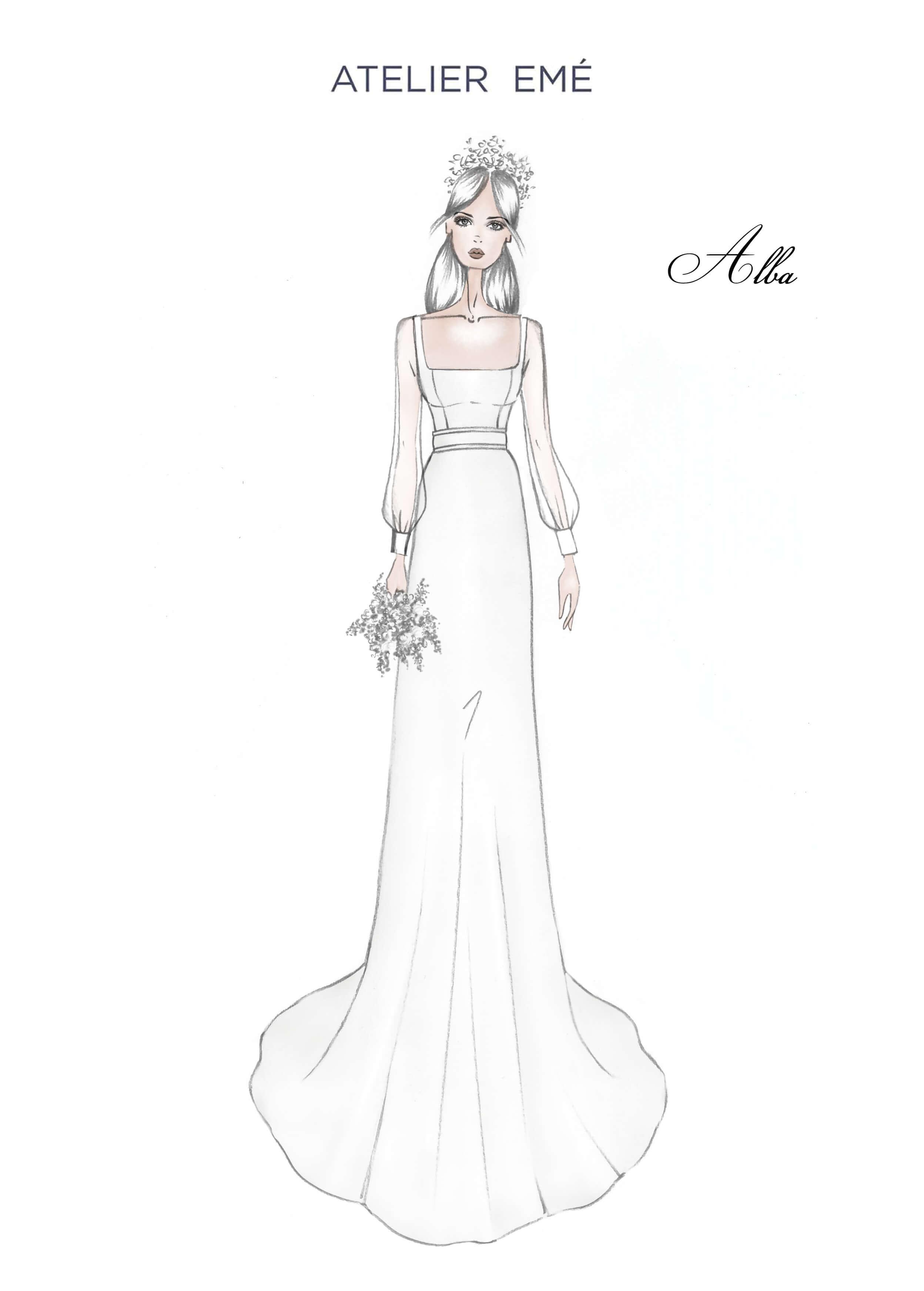 Abito da sposa Alba - Long Sleeves - 2022 Collection